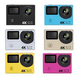 "silver memory stick Canada - Hot Action Camera H3R Ultra 4K HD 2.0"" Dual Screen Action Camera Waterproof 170D Lens cam"