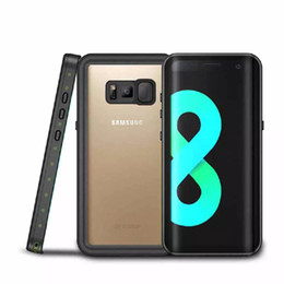 Wholesale Dust Proof Mobile Phones - For Samsung S8 Plus Waterproof Shockproof IP68 Dust proof Mobile Phone Case for Samsung Galaxy S8 S8 Plus S7 edge iPhone Diving Case