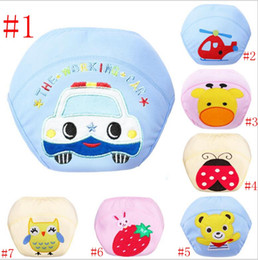 Wholesale Magic Baby Diapers - Spring 3 Layers waterproof Baby pitty Training Pants Owl Lady Bug Bee Diapers Zebra Learning pants Shorts