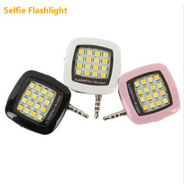 Wholesale Multiple Portable - Cell Phone LED flashlight Lamp for Camera Portable Phone multiple Selfie Photography 16 LEDs LED Fill Light For IOS Android