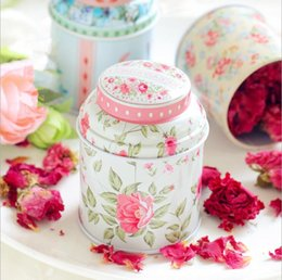 Wholesale Tea Tin Europe - 12pcs Europe type style Tea caddy receive box candy storage box wedding favor tin box cable organizer container household