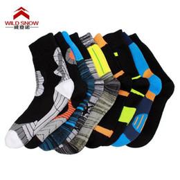Wholesale Water Socks Men - 2017 Waterproof Socks Men Water Cycling Sock Climbing Hiking Skiing Socks Women Knee High Orange Coolmax Outdoor Dry fast Socks