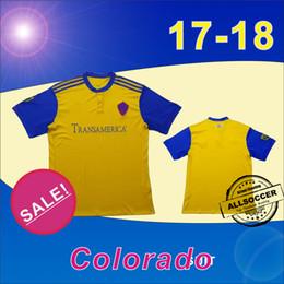 Wholesale Colorado Shorts - 17 18 Major League Soccer New Arrival Colorado yellow soccer jersey 2017 2018 Thailand high quality soccer jersey