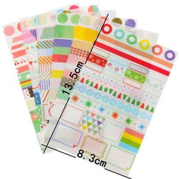 Vente en gros-6 pcs / lot arc-en-ciel papier coloré autocollant diy planificateur décoratif autocollant scrapbooking journal kawaii papeterie ? partir de fabricateur