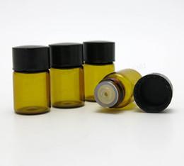 Mini flacone di vetro ambrato da 50 x 2ml Flacone da 2 ml di campione protable vuoto per uso con olio essenziale da