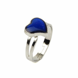 Сердце настроение кольцо онлайн-настроение кольцо магия с изменением температуры цвет кривой персик сердце кольцо регулируемая Оптовая