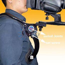 Wholesale Hand Strap For Dslr Camera - Wholesale- Hands Free Shoulder Pad Support Stabilizer Adjustable with Shoulder Strap carrying bag for Camcorder Video Camera DSLR