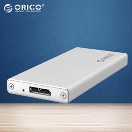 Toptan-ORICO MSA-U3 Alüminyum Mikro B mSATA 3.0 Taşınabilir Mobil HDD Muhafaza Kutusu 1.8 inç SSD için - Gümüş nereden