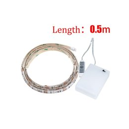 Wholesale Flexible Light Box - 50CM 5050 Waterproof Flexible IP65 RGB LED Strip Lights with Battery Box Lamp 4.5V for Home, Outdoor Lighting Craft Hobby Light Decoration