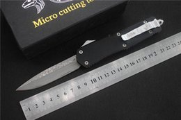Cuchillo de combate de damasco online-Combate A07 navajas Damasco de filo fino punto de gota sola hoja de cuchillo de rescate navaja de bolsillo táctico, cuchillo de cocina