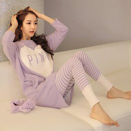 Wholesale Pajama Sets For Girls - Wholesale- Wholesale Winter Women Pajama Sets Autumn Sleepwear Pajamas girls night Homewear For Women Nightgown