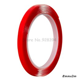 Wholesale Wholesale Clear Tape - Wholesale- 2016 1 piece 8mmx3M Strong Acrylic Adhesive Clear Transparent Double Sided Tape
