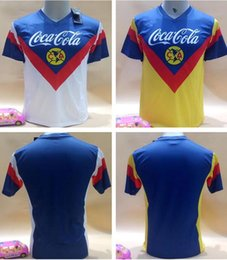 Wholesale Sporting Football Club - 17-18 Club America Soccer Jerseys 2017 2018 sports suit Soccer Jerseys 90 Vintage Edition Mexico american club football Jersey
