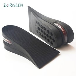 Wholesale Button Lifts - 5cm Air Cushion Adjustable Height Increase Insoles Lift Heel Inserts Pads By DHL