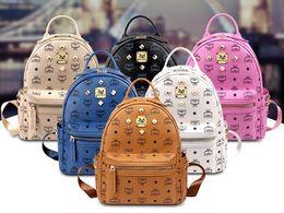 Wholesale Cheap Brown Bags - Hot MCHY&TYF Stark Backpack bag Bags bookbag ladies handbags on sale cheap rivet clinch clinch bolt Women girls bookbags