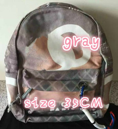 Wholesale Ladies Backpack Shopping Bags - backpack Black Gray backpack personalized graffiti shoulder bag Print new brand lady casual denim canvas Shopping bags the student package F