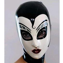 Wholesale Sexy Female Masks - New women female Handmade drama Customized Latex Cosplay maid Hoods spliced nurse Fetish Mask Heroine mask Headgear