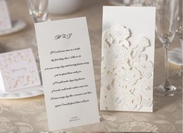 Dropshipping Rose Laser Cut Wedding Invitations Uk Free Uk
