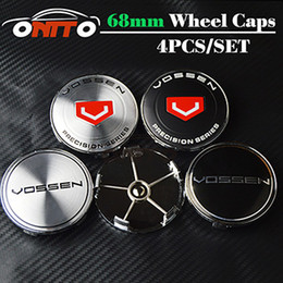 Wholesale Caps For Rims - High Quality hot sale 4pcs 68MM Vossen Emblem Wheel Center Cap Hub Caps Wheel Covers Logo Badge Wheel Caps For Rims Free Shipping