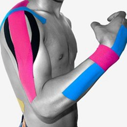 Wholesale Elastic Bandage Tape - New Arrive 5cm x 5m NEW Kinesiology Kinesio Roll Cotton Elastic Adhesive Muscle Sports Tape Bandage Physio Strain Injury Support