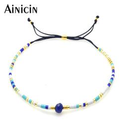 Wholesale Bracelet Glass Tubes - 100pcs Mixed Color 2mm Glass Tube Handmade Adjustable Bracelets For Women Sand Beach Jewelry