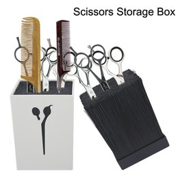 Wholesale Hair Ceramic Scissors - New Hair Scissors Holder Fashion Salon Professional Scissor Set Storage Box High Quality Free Shipping 4 colors.