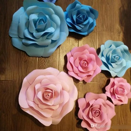 Wholesale White Window Displays - 20cm to 50cm Available Big Foam Rose Flower Festive Display Window Flower For Wedding Xmas Decorations 42 colors
