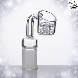 Wholesale Frost Cap - Diamond Knot Quartz Banger Nail Double Stack Frosted Joint Domeless Nails Gift Sell Carb Cap 569