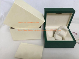 Wholesale Original Jewelry Box - Free Shipping 150*115*80 High Quality Jewelry Watch Box Hot selling New style Green Original Box Papers Gift Boxes In Swiss Brand Watches s