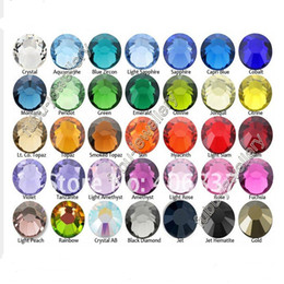 Wholesale Hot Glue Rhinestones - Wholesale-Wholesale 1440 pcs  pack SS3 crystal Multicolor ( 3d Nail Art decorations ) Non Hot Fix Glue on rhinestones for nails stone DIY