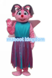 Wholesale Christmas Plus Size Outfits - New Abby Cadabby Mascot Costume Christmas Fancy Dress Outfit Adult Free Ship