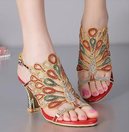 Wholesale Crystal Sandals For Women - Bridal Shoes Crystals Wedding Shoes for Bride Sandal Women Sheepskin Beads Stone Bridesmaid Prom Party evening Shoes 2017