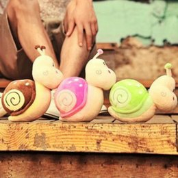 Wholesale Snail Dolls - Hot wedding plush toys small snail dolls creative children's small toys gift items dolls free shipping