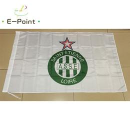 Wholesale Cm Club - France Club Saint-Etienne FC 3*5ft (90cm*150cm) Polyester flag Banner decoration flying home & garden flag Festive gifts