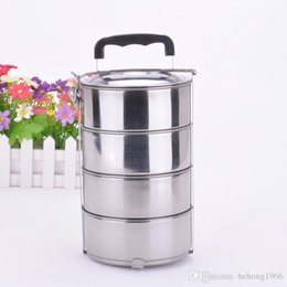 Wholesale Food Lunch Box For Outdoor Sport Camping Picnic Multi Layer Stainless Steel Storage Mess Jar Portable High Quality js JR