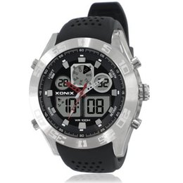 спортивные часы Скидка Wholesale- XONIX Men Sports Watches Waterproof 100m Analog-Digital Watch Running Swimming Diving Wristwatch Relojes Hombre Montre Homme MY