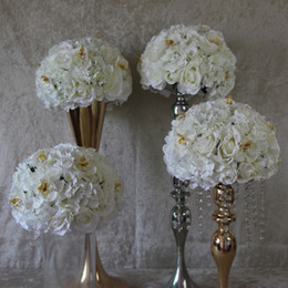 Wholesale Orchid Led - Aimulation flower table centerpiece wedding road lead flower rose hydrangeas and orchid 10pcs lot 30cm EMS free shipping