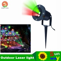 Wholesale Starry Stage Light - High Bright Laser light waterproof outdoor lawn Starry Christmas red and green dynamic remote control insert the courtyard garden landscape
