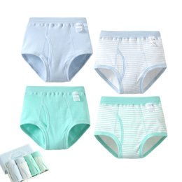 Wholesale knitted panties - 4pcs lot wholesale High Quality Kids Cotton Knitting Clothes Cute Boys Cotton Open Front Panties Briefs Underwear Set Children Underpants
