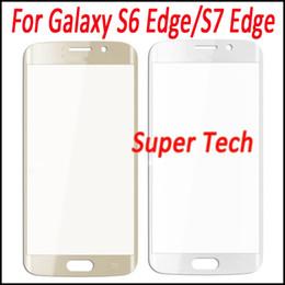 Oro del bordo della galassia s6 online-Per Galaxy S7 Edge OEM Touch Screen Vetro esterno Sostituzione per Galaxy S6 Edge Nero Argento Oro Bianco Spedizione gratuita