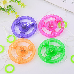 Wholesale Wholesale Flying Saucers - LED Fidget Spinner for Kids Led Toys Sound Lighted UFO Pull light-emitting Flywheel Flash Top Hand Flying Saucer Spinning Toys Gifts