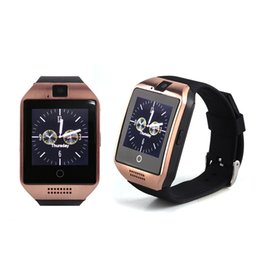 Wholesale Golden Connections - Q18 Smart Watch Bluetooth Smart watches For Android Phone with Camera Q18 Support TF Card Connection with Retail Package