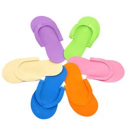 Wholesale Disposable Thongs - Wholesale-free shipping 100pcs lot Disposable Slipper   EVA Foam Salon Spa Slipper   Disposable Pedicure thong Slippers   Beauty Slipper