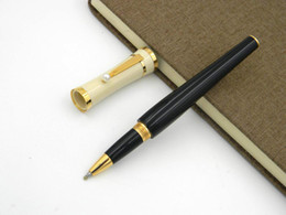 Wholesale Pearl Metal - white and Black golden parts Princess of Monaco Pearl Roller ball Pen