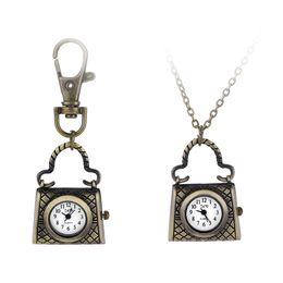 Wholesale Ancient Heart - Quartz watch men and women style restoring ancient ways of creative bag insert pocket watch pendant watch
