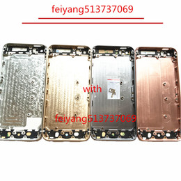 Wholesale Iphone Replacement Backs - 1pcs A quality Full Housing Back Battery door Cover Middle Frame Metal for iphone 5 5g 5s Replacement Part