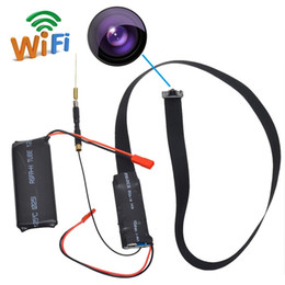Wholesale Wholesale Wireless Mini Pinhole Camera - HD 1080P WiFi IP Camera Nanny Cam Mini DV DIY Module P2P DVR 60cm Lens For Security Support APP Real-time Monitoring