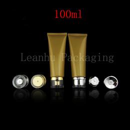 Wholesale Gold Cosmetics Skin Care - Wholesale 100ml Skin Care Cosmetics Hose ,100g Gold Soft Tube Cleansing Cream  Cream Emulsion Packaging