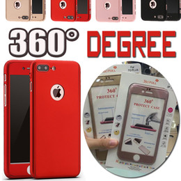 Wholesale Hard Case Iphone Package - 360 Degree Coverage With Tempered Glass Hard PC Slim Cover Case For iPhone X 8 Plus 7 6S 6S Samsung S8 S7 edge Note 5 With Retail Package