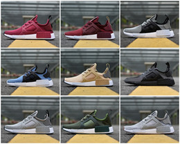 Wholesale Flat Pins - NMD XR1 Runner ColorBoost Pin Stripe Linen Olive Core Black Men Shoe Women Running Shoes Sneakers Originals NMDs Runner Primeknit Shoe Sport